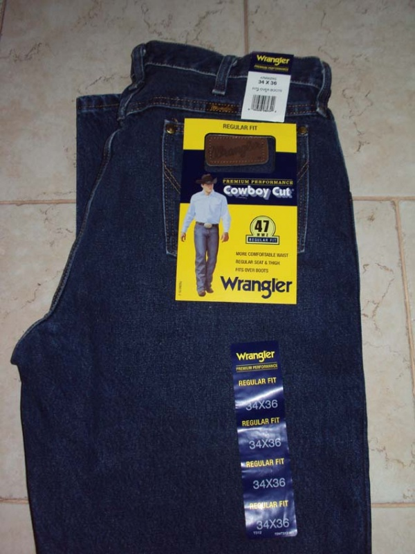 Джинсы Wrangler Premium Performance Cowboy Cut® Regular Fit Jean Dark Stone Color (рост 190-210см)